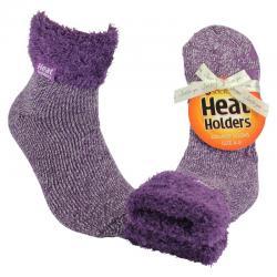 Ladies lounge socks 4-8 lila mauve/cream